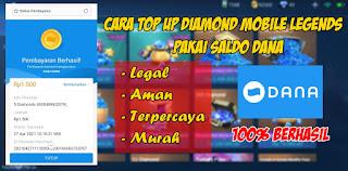 Cara Top Up Diamond Mobile Legends Pakai Dana