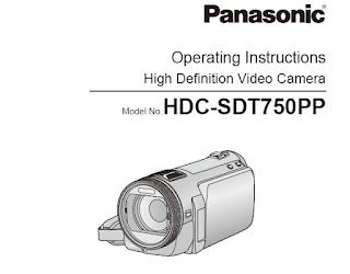 Panasonic HDC-SDT750 Operating Instructions Manual