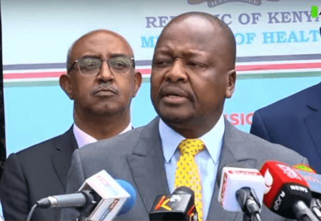 Health Cs Mutahi Kagwe giving updates on coronavirus