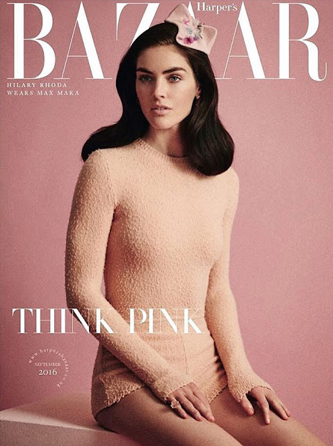 Fashion Model, @ Hilary Rhoda by Serge Leblon for Harper's Bazaar UK September 2016