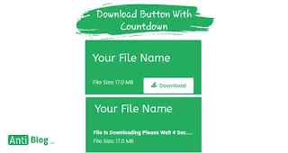 Download button with countdown