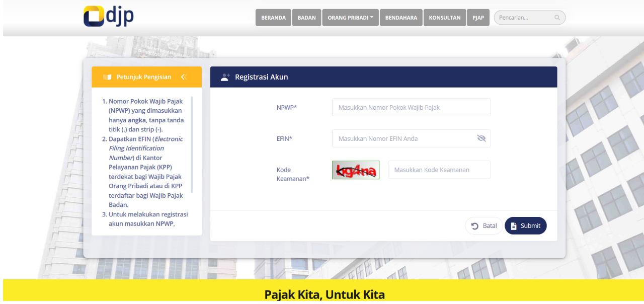 Cara Mudah Dapatkan Efin Secara Online Catatan Ekstens