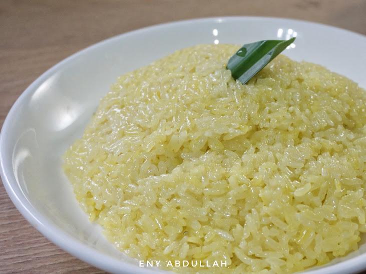 resepi pulut kuning, pulut kuning berhias, cara masak pulut kuning