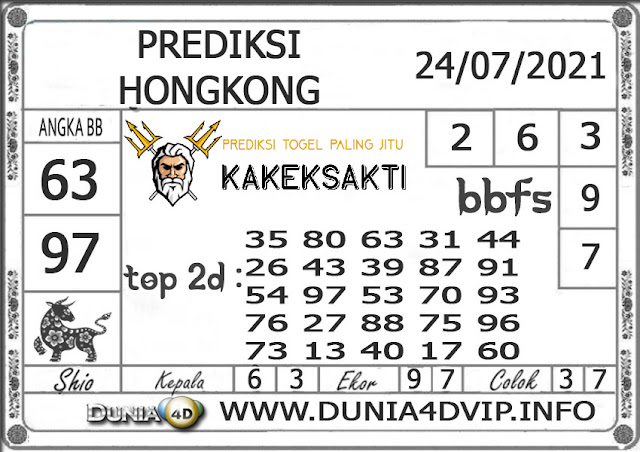 Prediksi Togel HONGKONG DUNIA4D 24 JULI 2021