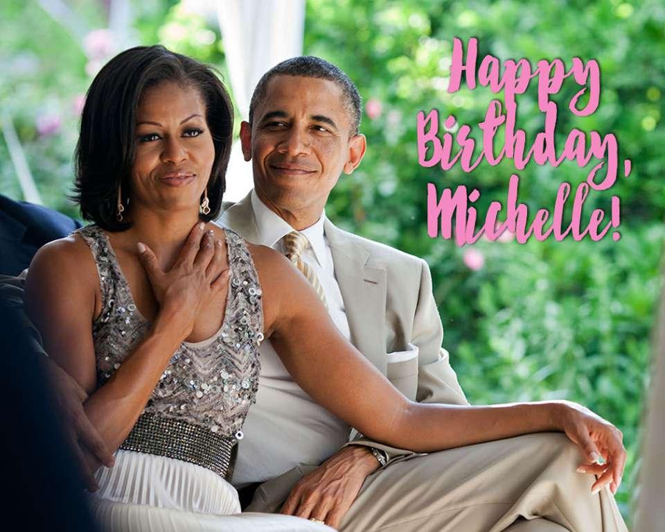 Michelle Obama's Birthday Wishes Photos