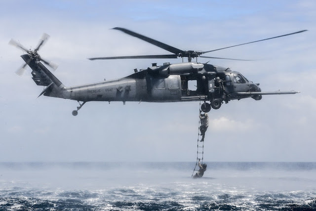 USAF RESCUE SQUADRON CONDUCTS AMPHIBIOUS OPERATIONS