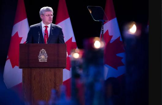 Steven Harper Ukraine Nazi collaborators fascists war crimes finance memorial Canada