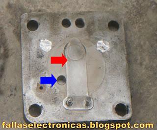 valvula de baja de un compresor de nevera