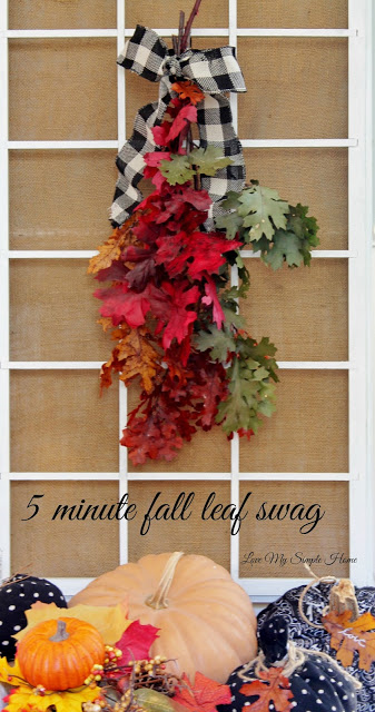 Easy fall faux leaf swags