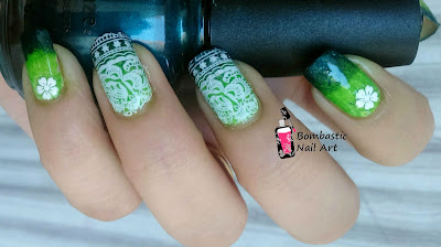 Green Ombre Nail Art