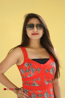 Actress Shaheena Pictures in Red Dress at V Movie Press Meet  0064.JPG