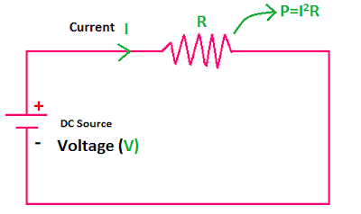 electrical power formula for DC