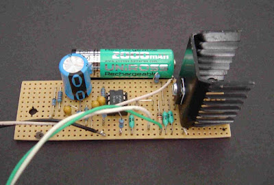 Heat Sink with Transistor