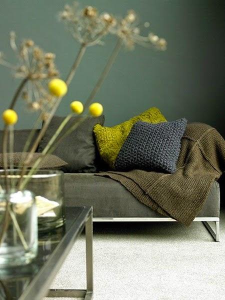 inspiracje w moim mieszkaniu Oliwkowa ziele we wntrzach