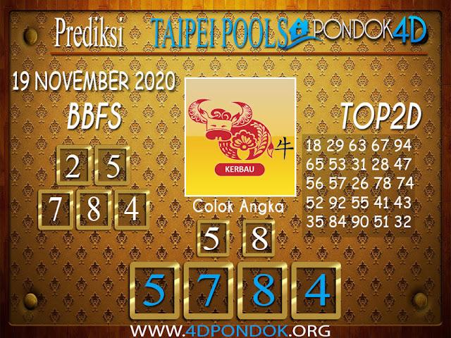 Prediksi Togel TAIPEI PONDOK4D 19 NOVEMBER 2020