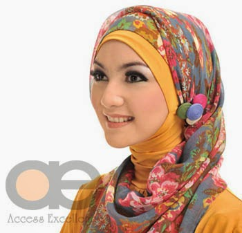model penggunaan bros jilbab