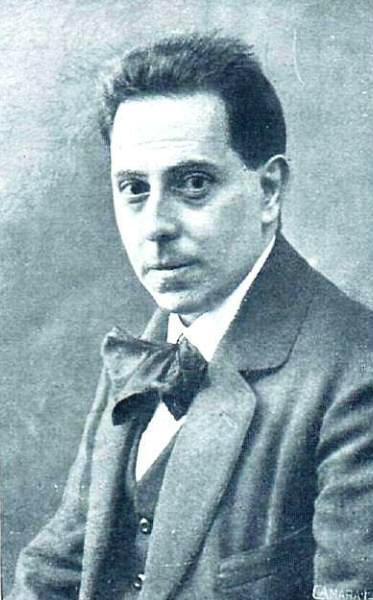 Exoristo Salmerón en una fotografía publicada a principios de 1916