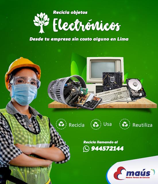 Reciclaje de objetos electrónicos en desuso