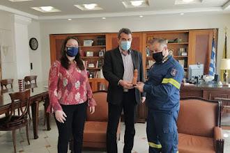 Εθιμοτυπική  Επίσκεψη του νέου  Συντονιστή Πυροσβεστικών Υπηρεσιών Ηπείρου, Δυτικής Μακεδονίας και Ιονίων Νήσων στον Αντιπεριφερειάρχη Καστοριάς