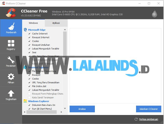 Download CCleaner 5.34.6207 Gratis Terbaru Offline Installer
