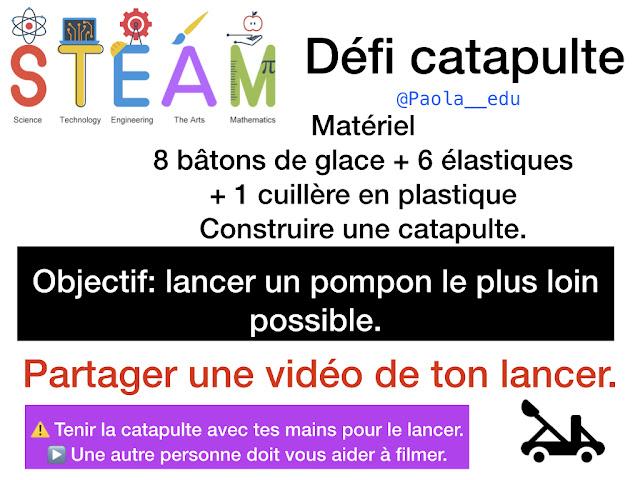 STEAM Défi Catapulte