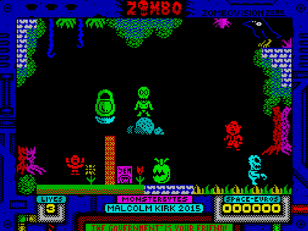 Brains Games Indie Retro News Zombo A Free Zx Spectrum Game That Will Eat
