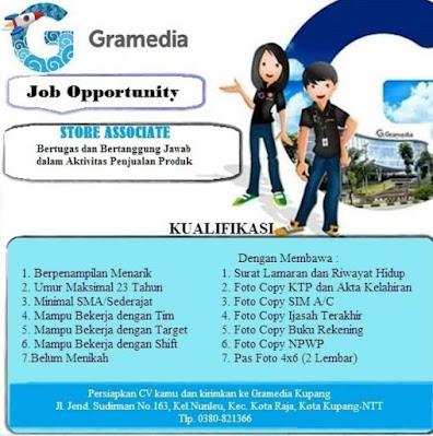 Lowongan Kerja Gramedia Kupang Sebagai Store Associate