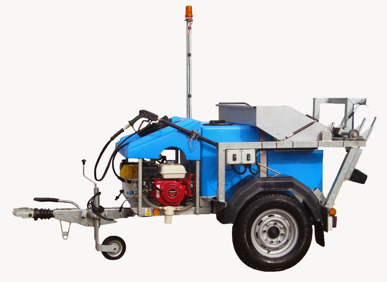 wheelie bin cleaning machine bin cleaner trailer mounted