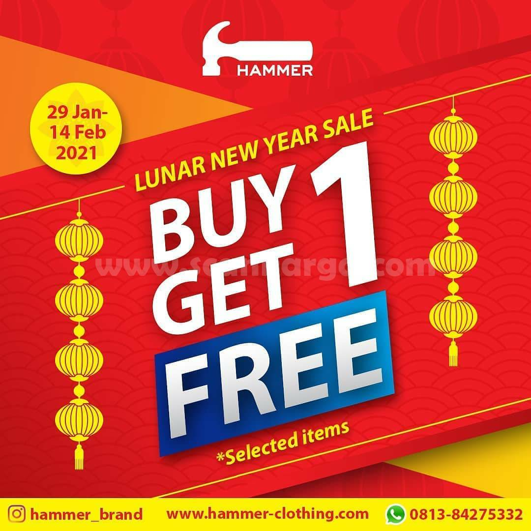 Promo HAMMER Lunar New Year Sale Buy 1 Get 1 Selected Items