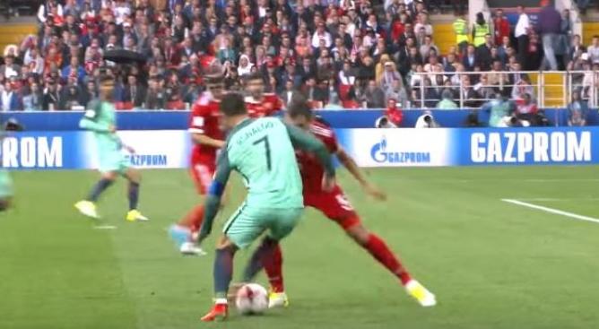Video Aksi Gocekan Memukau Ronaldo Nyaris Diakhiri Gol..