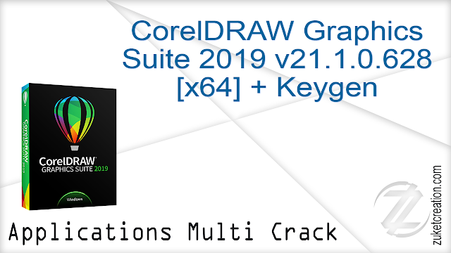 CorelDRAW Graphics Suite 2019 v21.1.0.628 (x64) + Keygen  |  758 MB