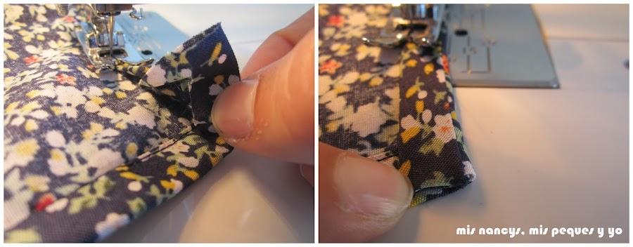 mis nancys, mis peques y yo, tutorial blusa sin mangas niña (patrón gratis), rematar final bies cuello