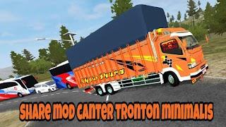 Mod Truck Canter Tronton Terpal Kotak Minimalis Bussid