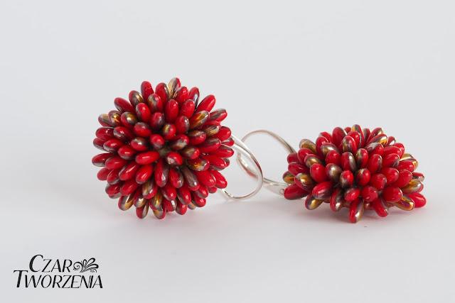 złote czerwone srebrne kolczyki wyjątkowe