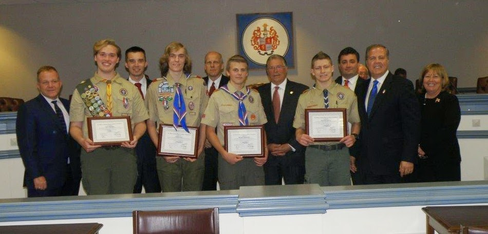 Freeholders Honor New Eagle Scouts