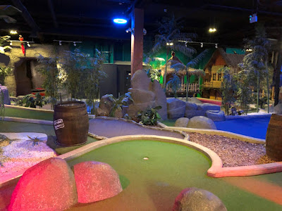 Jungle Rumble Adventure Golf at Cabot Circus in Bristol. Photo by Cat Patterson, February 2020
