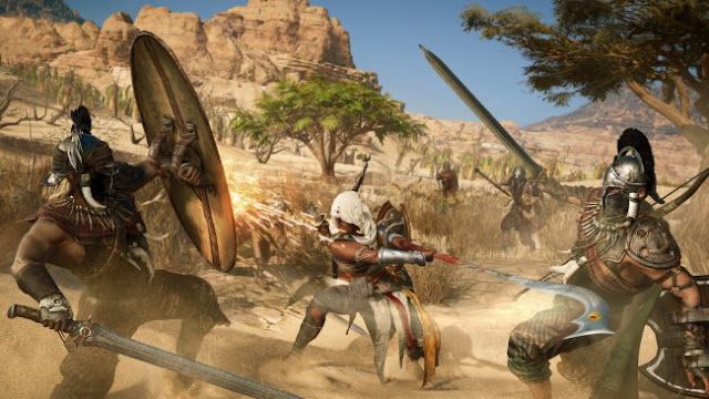 A IA de Assassin's Creed Origins pode enervar-se.