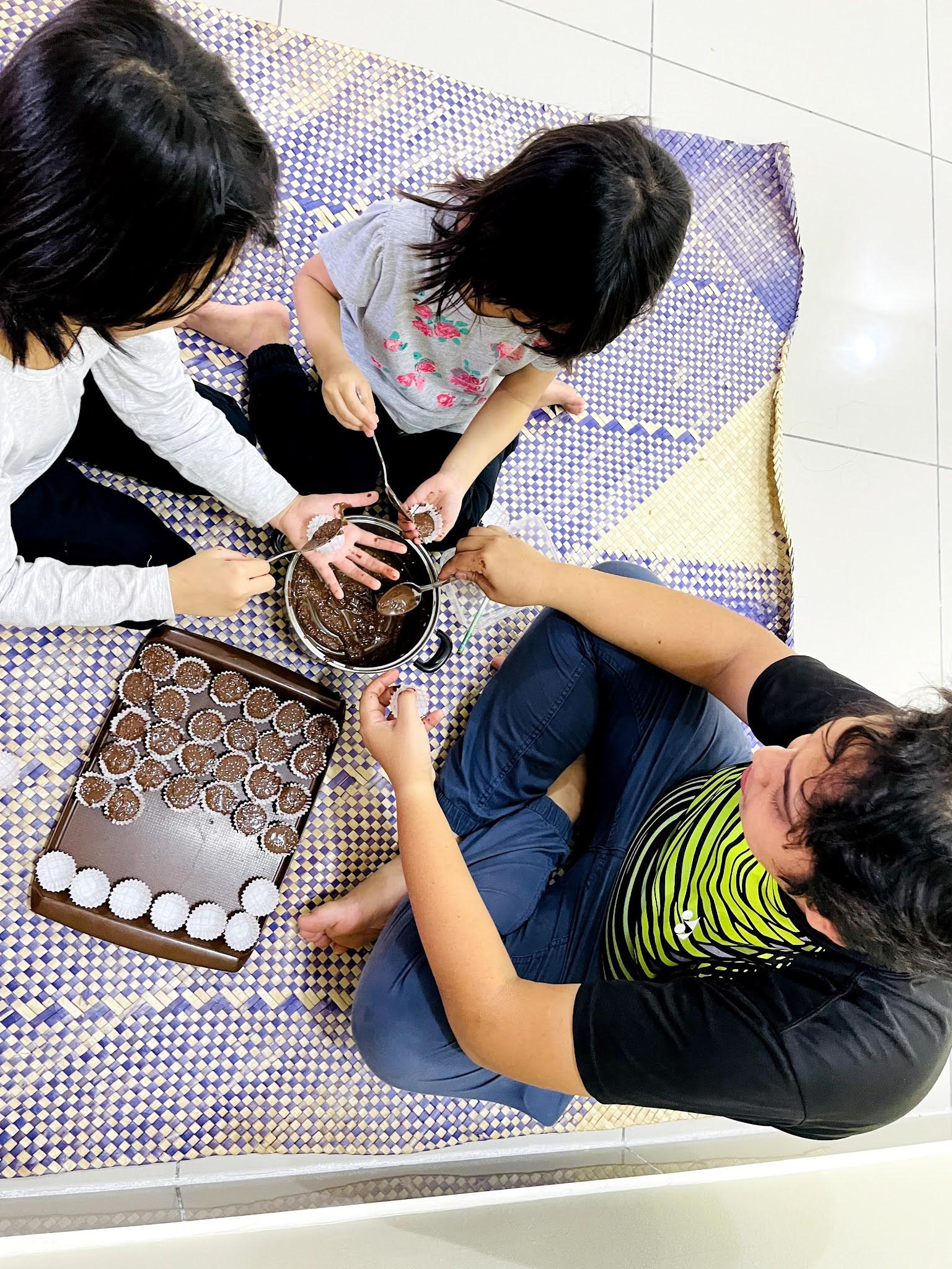 resepi coklat badam rangup viral