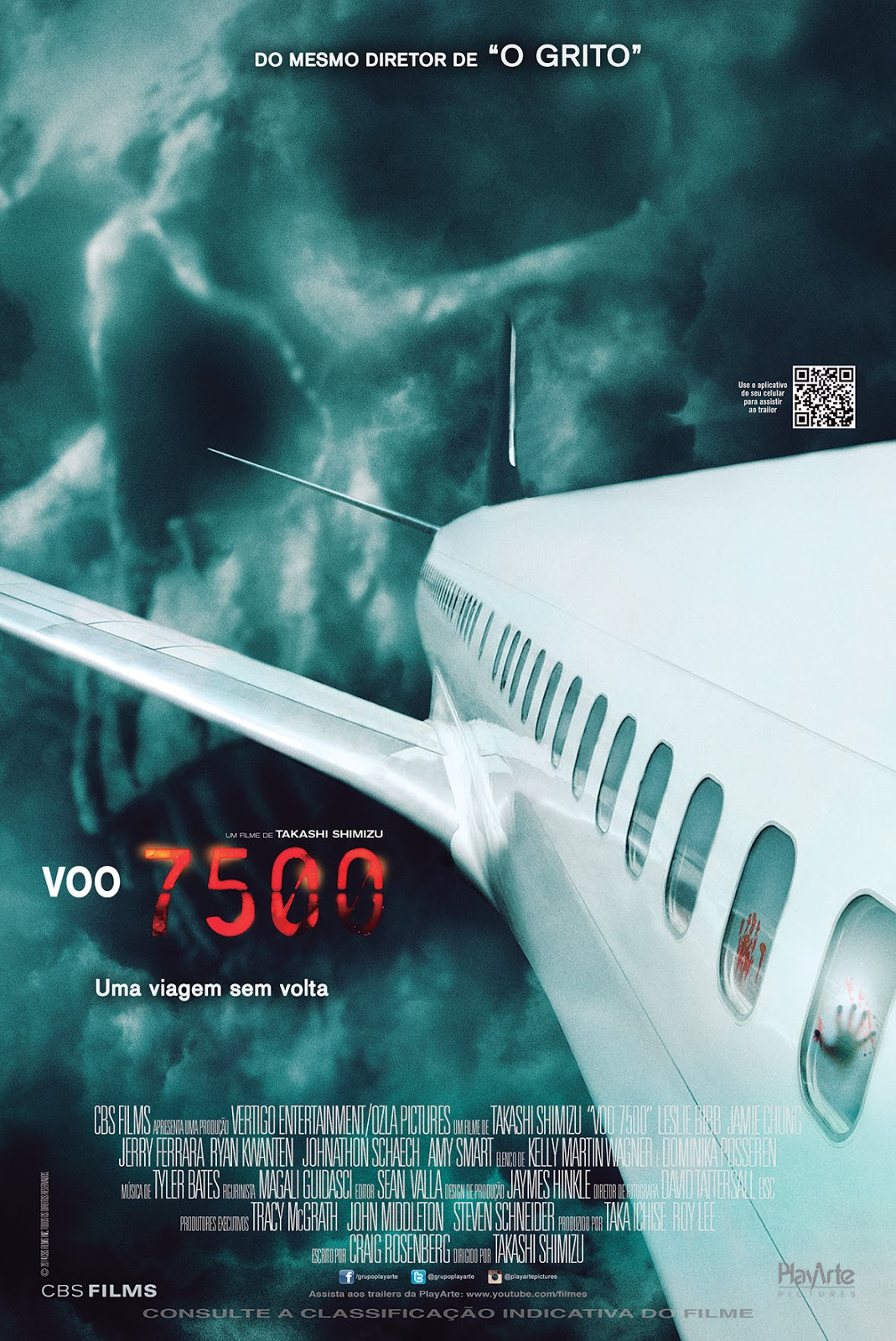 Poster do filme de Takashi Shimizu, Voo 7500