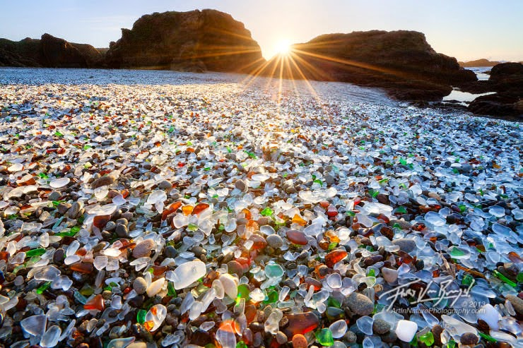 10. Glass Beach, California, USA - Top 10 Unusual Beaches