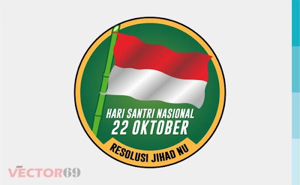 Resolusi Jihad NU, Hari Santri Nasional Logo - Download Vector File SVG (Scalable Vector Graphics)