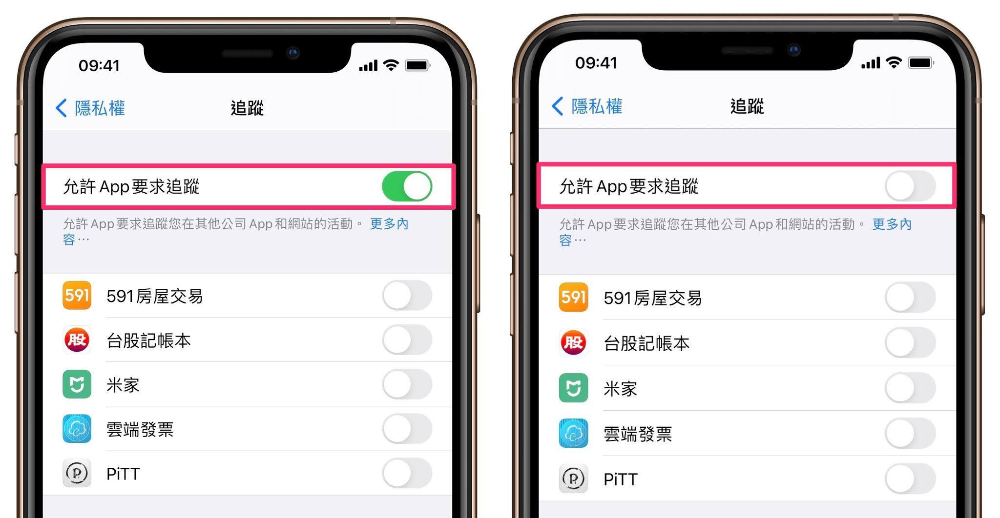 iOS 14.5 隱私 控制