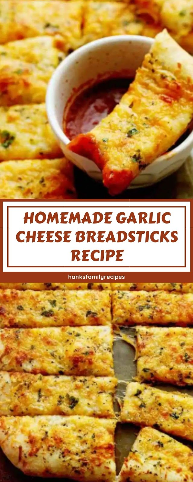 HOMEMADE GARLIC CHEESE BREADSTICKS RECIPE