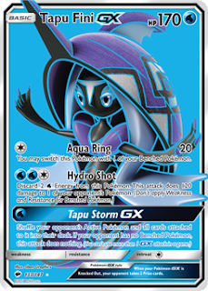 Tapu Fini GX Burning Shadows Pokemon Card