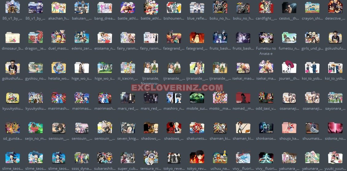 Download Icon Folder Anime Musim Spring 2021 Pack