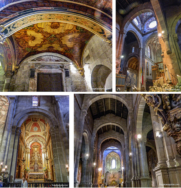 Interior da Sé de Braga, Portugal