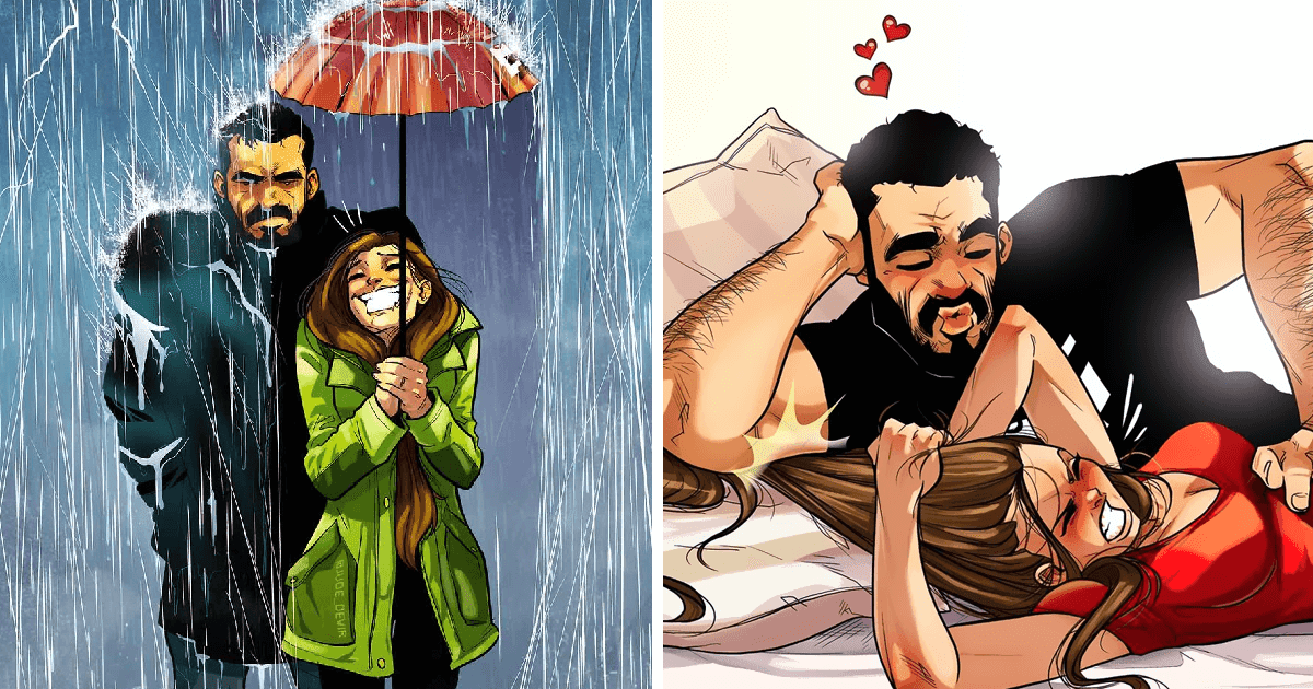 15 Artistic Illustrations Depict A Couple's Loving Everyday Moments