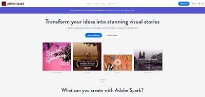 Gambar Situs Web adobe spark
