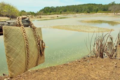 daun bisa dianyam menjadi tas yang jadi bagian produk lokal