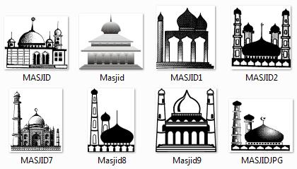 Download Logo Gambar Masjid Format File JPEG, PNG, GIF Untuk Koleksi Usaha Setting & Percetakan